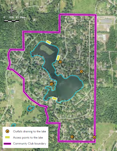 Figure2: Outfalls and Access Points at Lake Marcel