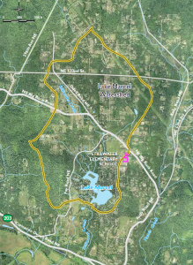 Figure 1: Watershed Map of Lake Marcel